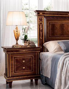 Modigliani Nachttisch, Nachttisch aus Holz im Empire-Stil