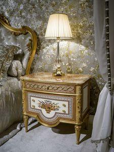 Nachttisch 3704 Louis XVI Style, Luxus klassischer Nachttisch