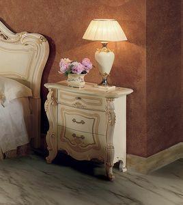 Opera Nachttisch, Nachttisch mit handgefertigten Dekorationen