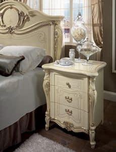 Tiziano Nachttisch, Nachttisch, 3 Schubladen