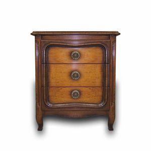 Vouvant VS.2052, Louis XV Nachttisch mit drei Schubladen