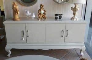 3530 SIDEBOARD, Lackiertes Sideboard mit 4 Türen, für Wohnzimmer und Küche
