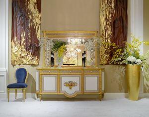 Anrichte 1440 im Louis XVI Stil, Klassisches Sideboard mit floralen Einlagen