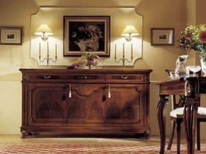 GRANDUCATO / 3 Türen Sideboard, Sideboard mit 3 Schubladen und 3 Türen, für Wohnzimmer