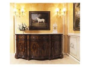 Lombarda sideboard 866, Schrank für das Esszimmer, im klassischen Stil