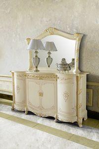 Madame Royale Anrichte, Klassisches Sideboard, handdekoriert