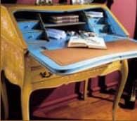 3255 DROP-FRONT DESK, Schreibtisch aus Holz von Hand verziert, Luxus classic
