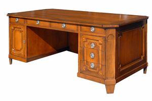 Angers VS.5536, Louis XVI Schreibtisch mit sieben Schubladen und einer Tür