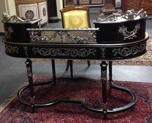 Art. 1107 Dubai, Schreibtisch mit raffinierten handgefertigten Schnitzereien