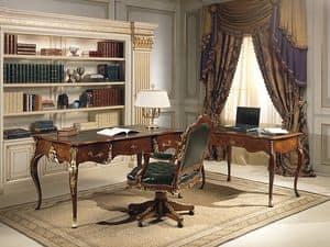 Art. 2008/16, Schreibtisch mit Louis XV stylne, Nussbaum Antiquitäten, hohe Qualität