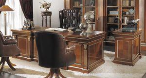 ART. 2543, Klassischer Kirschholz Schreibtisch