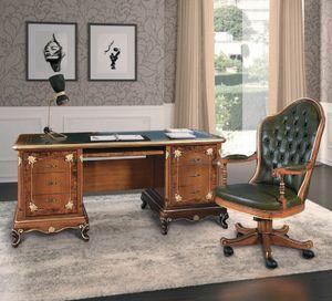 Art. 3004, Schreibtisch mit Lederoberteil
