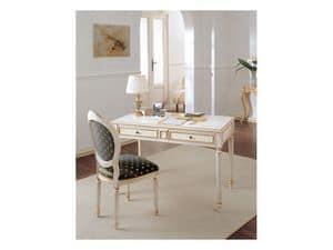 Art. 513, Schreibtisch in antikem Holz, Blattgold Dekorationen, für das Büro