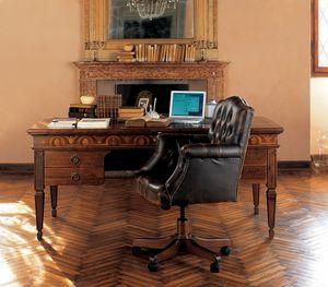 Ca' Venier Art. CV26, Klassischer Schreibtisch aus Massivholz