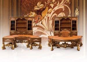 Composition Art.6930, Klassische Möbel, Büro, herrliche Schnitzereien, feine Materialien