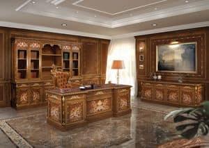 F602, Büromöbel in klassischem Luxus-Stil