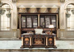 F950/D, Eingelegten Schreibtisch nach klassischen Luxus Büro