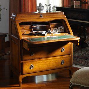 Roussillon VS.1046, Provenzales Büro mit drei Schubladen und öffnender Oberseite
