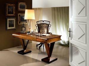 SC17 Libro Schreibtisch, Holz-Schreibtisch, flach geformten Buch, im klassischen Stil