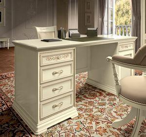 Torriani Home Office Schreibtisch, Luxuriöser Schreibtisch im klassischen Stil