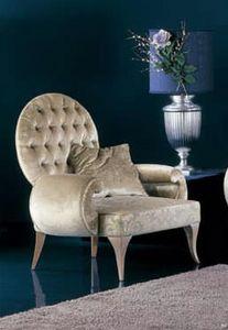 286P, Luxuriöser getufteter Rückenlehnen-Sessel
