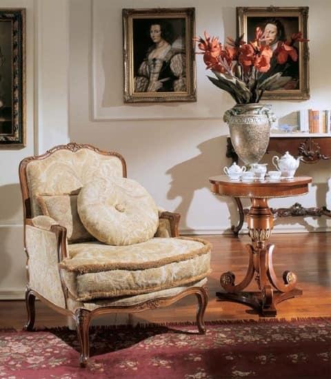 3210 ARMCHAIR LUIGI XV, Luxus klassischen Polstersessel, im Stil Louis XV