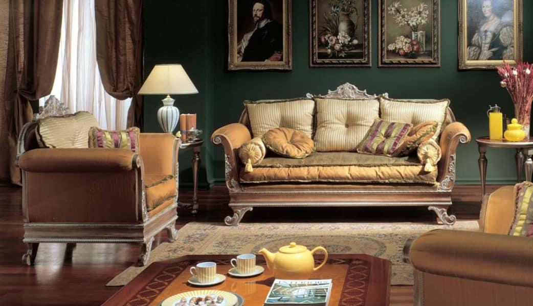 3225 ARMCHAIR IMPERO, Sessel mit eingelegtem Finish, für Luxus-Hotels