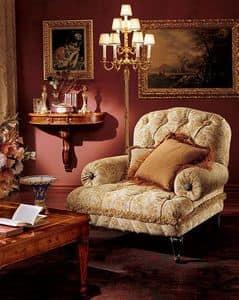 Albina armchair, Sessel mit gesteppter Polsterung, klassischen Stil