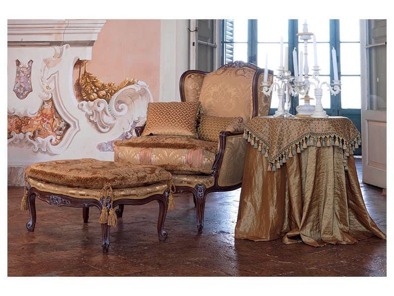 Anna Sessel, Elegant klassischen Sessel, glänzend Nußbaum