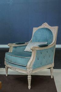Arles Sessel, Klassischer Sessel aus Samt