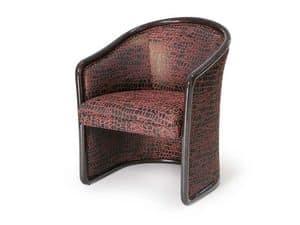 Art.168 armchair, Feuerbeständige Stuhl für den Wartebereich, im klassischen Stil