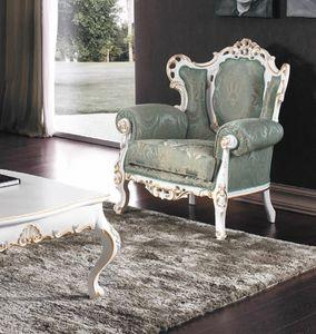 Art. 3148, Opulenter Sessel mit geschnitzter Struktur