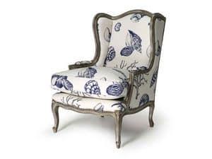 Art.320 armchair, Sessel aus Buchenholz, Stil Louis XV