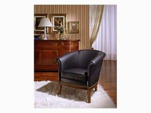 Betty, Sessel aus Pappelholz, für klassische Möblierung