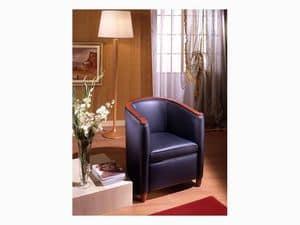 Bibi, Sessel aus Pappelholz, für Wartezimmer und Wohnzimmer