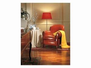 Bulbas Armchair, Sessel in Leder bezogen, fo Hotelhalle und zu Hause
