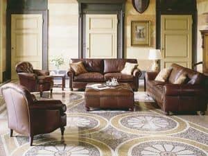 Caffè, Sessel mit luxuriösen Dekoration, für Hotelsuiten