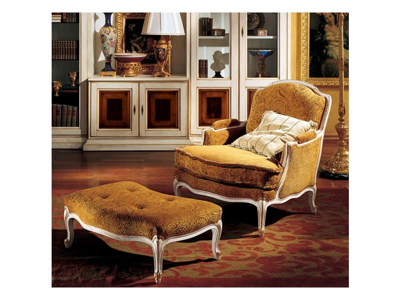 Complements lounge set 848 849, Luxus klassischer Sessel und Fußstütze