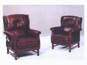 Dedica, Traditionelle Sessel für Wartebereich, mit Zeitschriftenständer
