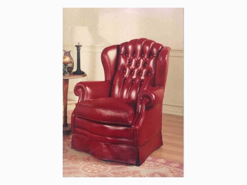 Emmerich, Kuvertierung Luxus-Sessel, mit Leder bezogen