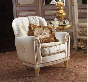 Esimia Sessel, Klassischer Sessel mit Seidenstoff