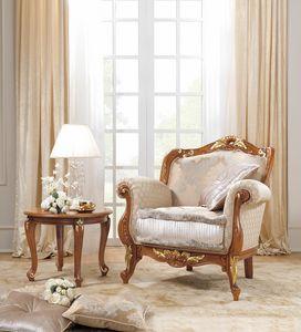 Fenice Art. 1806 - 1906, Sessel im Classi-Stil aus geschnitztem Holz