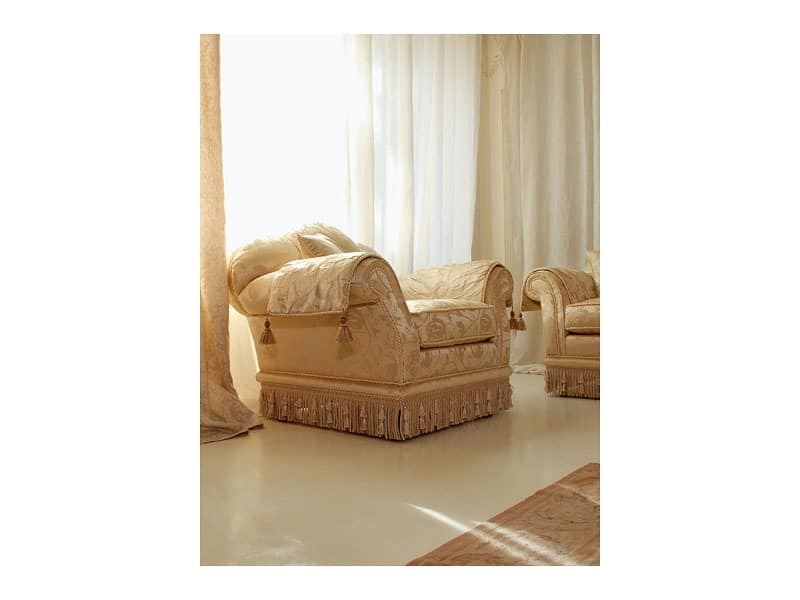 Glicine Armchair, Luxus Sessel Mit Hoher Rückenlehne Schiff Einrichtung