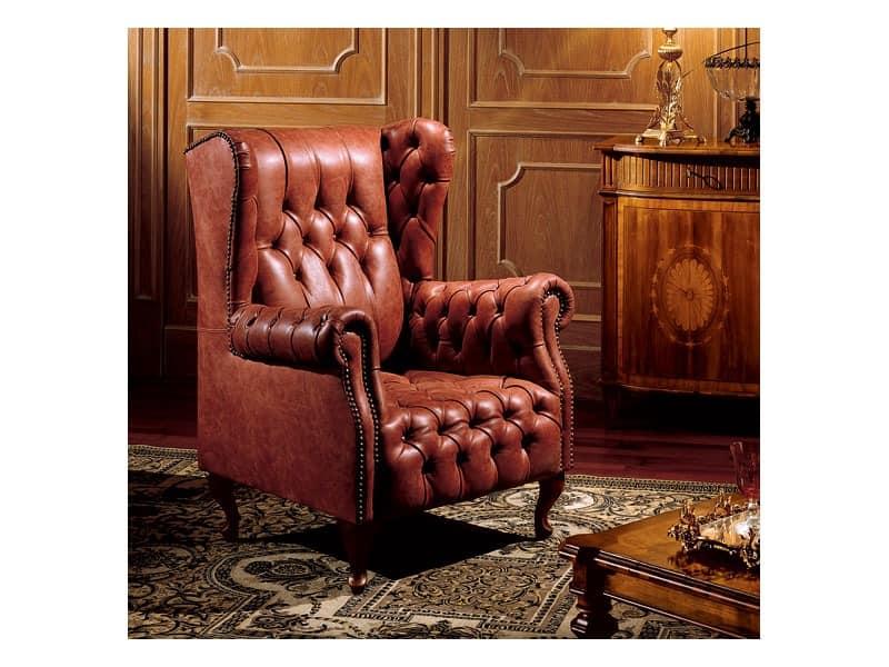 Hepplewhite bergere anna, Sessel mit gesteppter Polsterung, klassischen Stil