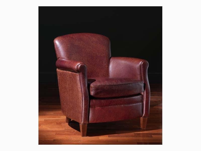 Paul, Klassischer Sessel mit Lederbezug