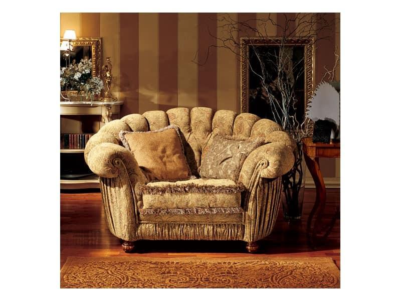 Marika Sessel, Klassischen Stil Sessel mit einem halbrunden Rückenlehne