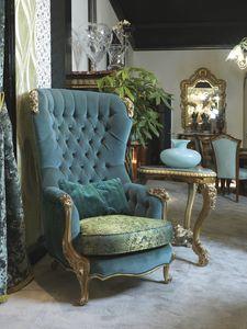Sessel 5168, Klassischer Luxus-Bergère-Sessel