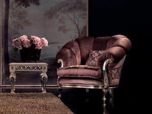 Valeria Sessel, Velvet Sessel, Finish in Silber, für Luxus-Wohnzimmer