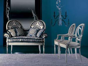 120D, Luxuriöses klassisches Sofa für Wohnzimmer