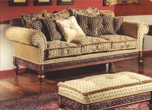 3150 Sofa, 3-Sitzer-Sofa für klassische Wohnzimmer